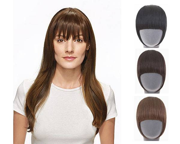 synthetic said bangs fringes clip in on hair extensions