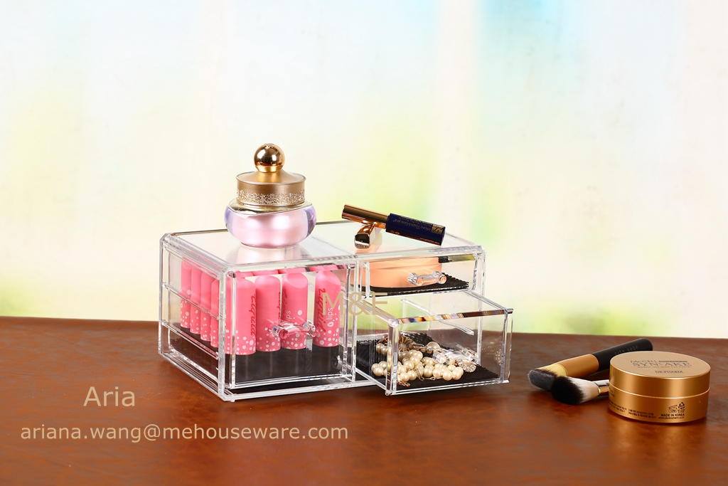 High class Acrylic Makeup Organizer with 3 Drawer only