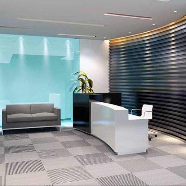 Acrylic solid surface office reception desk
