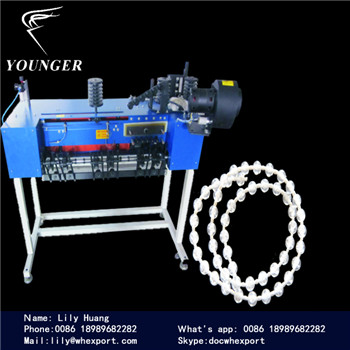 plastic Roller Blinds curtains endless loop beads beaded beads round Ball Chain making Machine