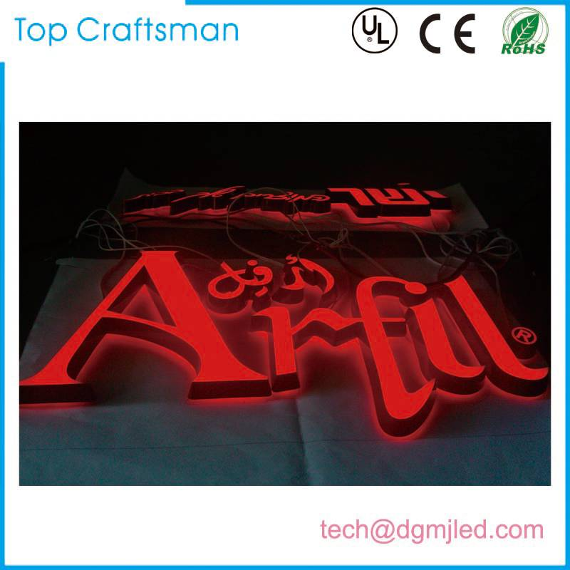 Double-sided light Customized engraving acrylic letter sign