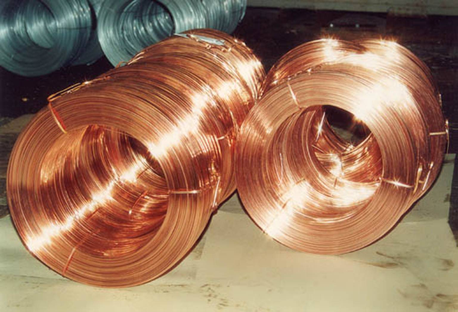 Cooperplated welding Wire