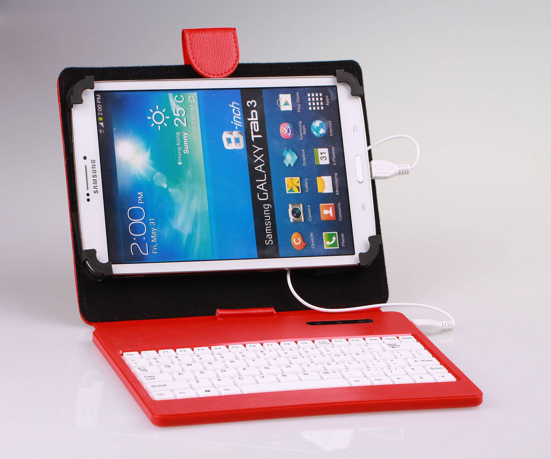 Excellent Silicone PU Leather Stand Case Cover KeyboardFor 8 inch  Universal Tablet PC