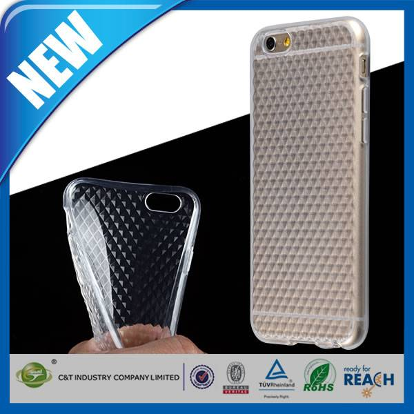 C&T Fashionable diamond soft TPU new arrival back case for iphone 6