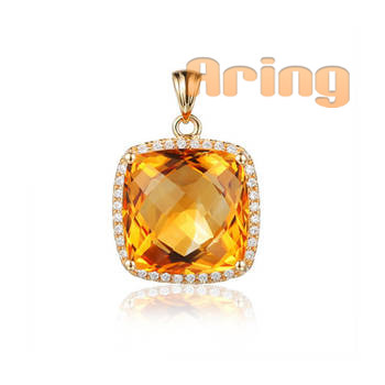 Wholesale 18k Gold Jewelry Citrine pendants