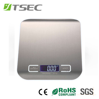 6mm Stainless Steel Digital Kitchen Weighing Scale