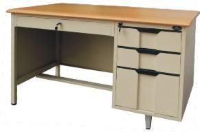 Single Pedestal Steel Desk