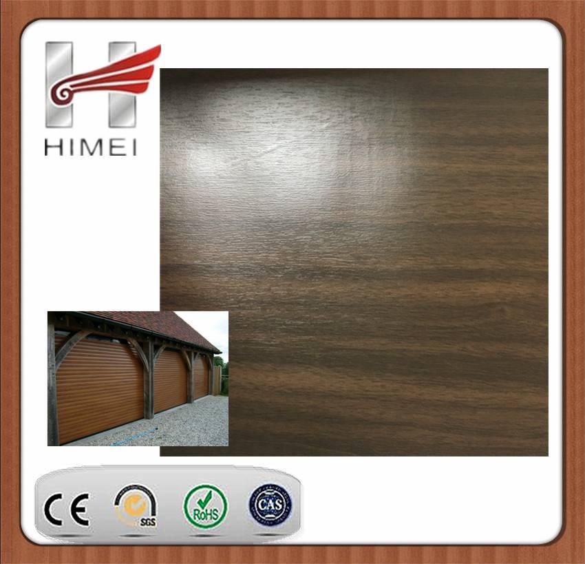 Wood grain laminated sheet for roller shutter