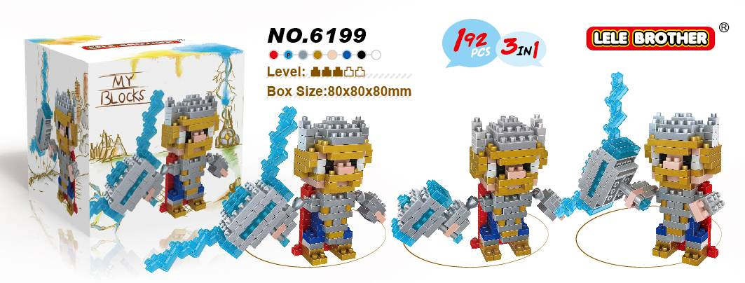 Lele Brother Diamond Block Avengers Hero Thor (2 in 1) 2015 New Arrival