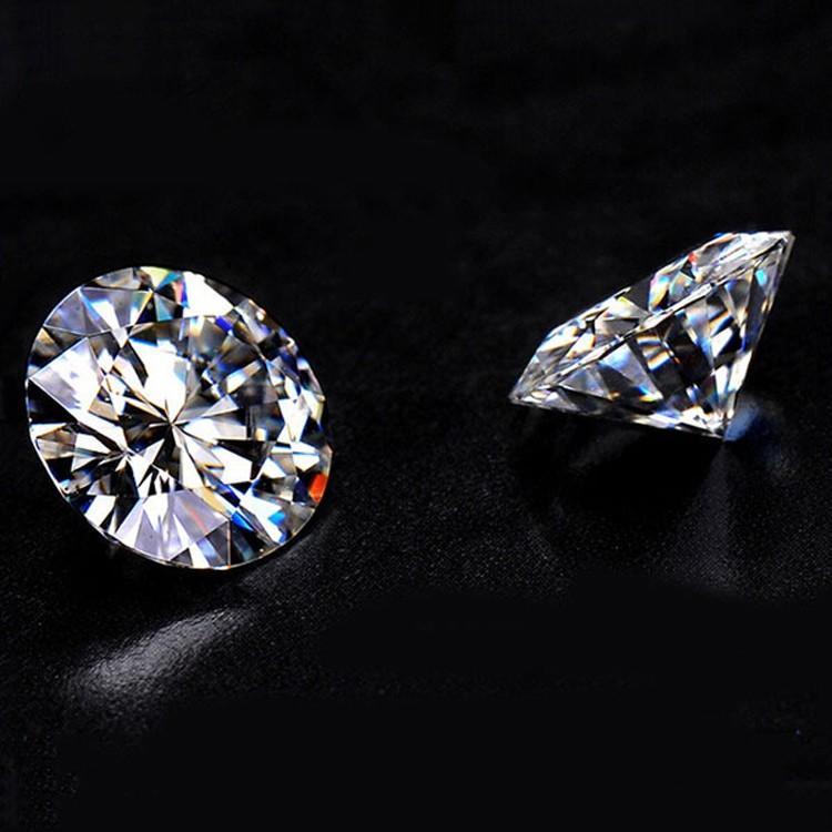 Bulk wholesale sparkle white imitation jewelry loose VVS quality moissanite