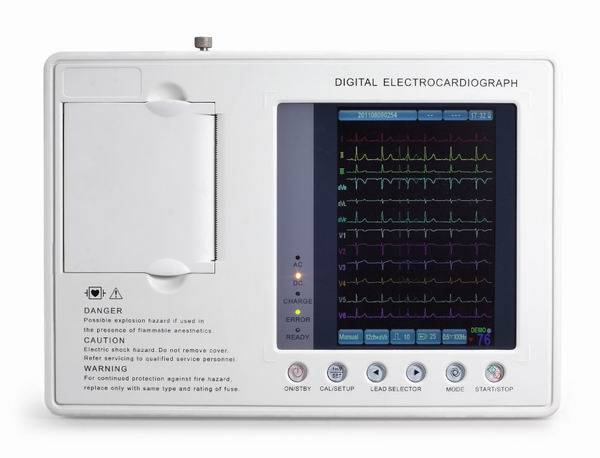 E3 Digital Three Channel Color Screen ECG Machine