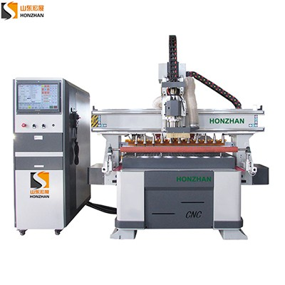 Honzhan HZ-ATC1325L Linear Auto Tool Changer Magazine CNC Router for furniture wooden door making