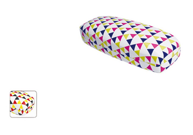 sublimation triangle printing Metal optical eyeglass case Metal Eyeglass Case Eyeglasses Case