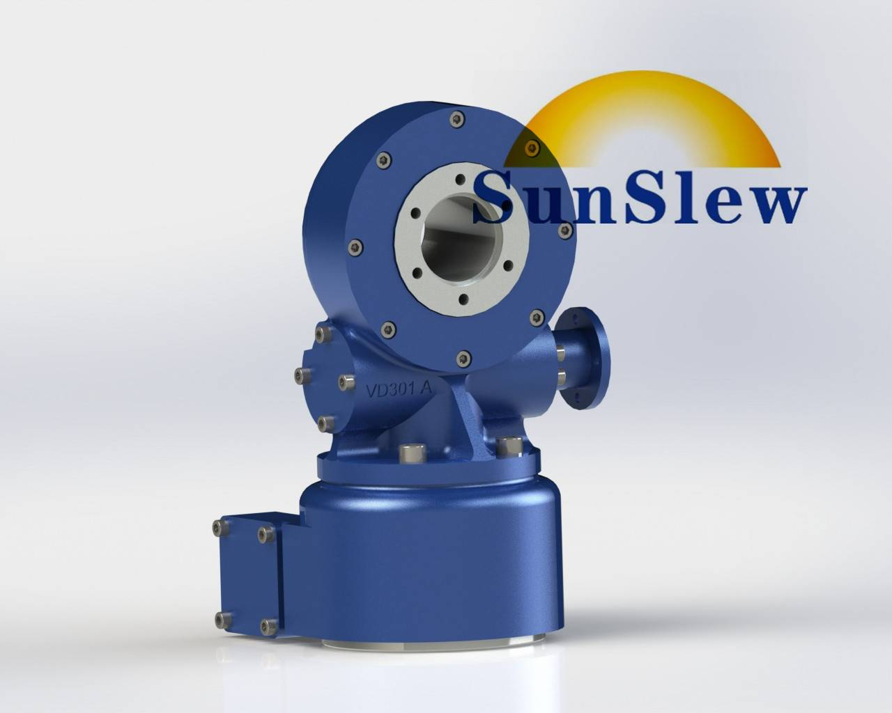 SDD3 dual axis slewing drive worm gear for solar tracker