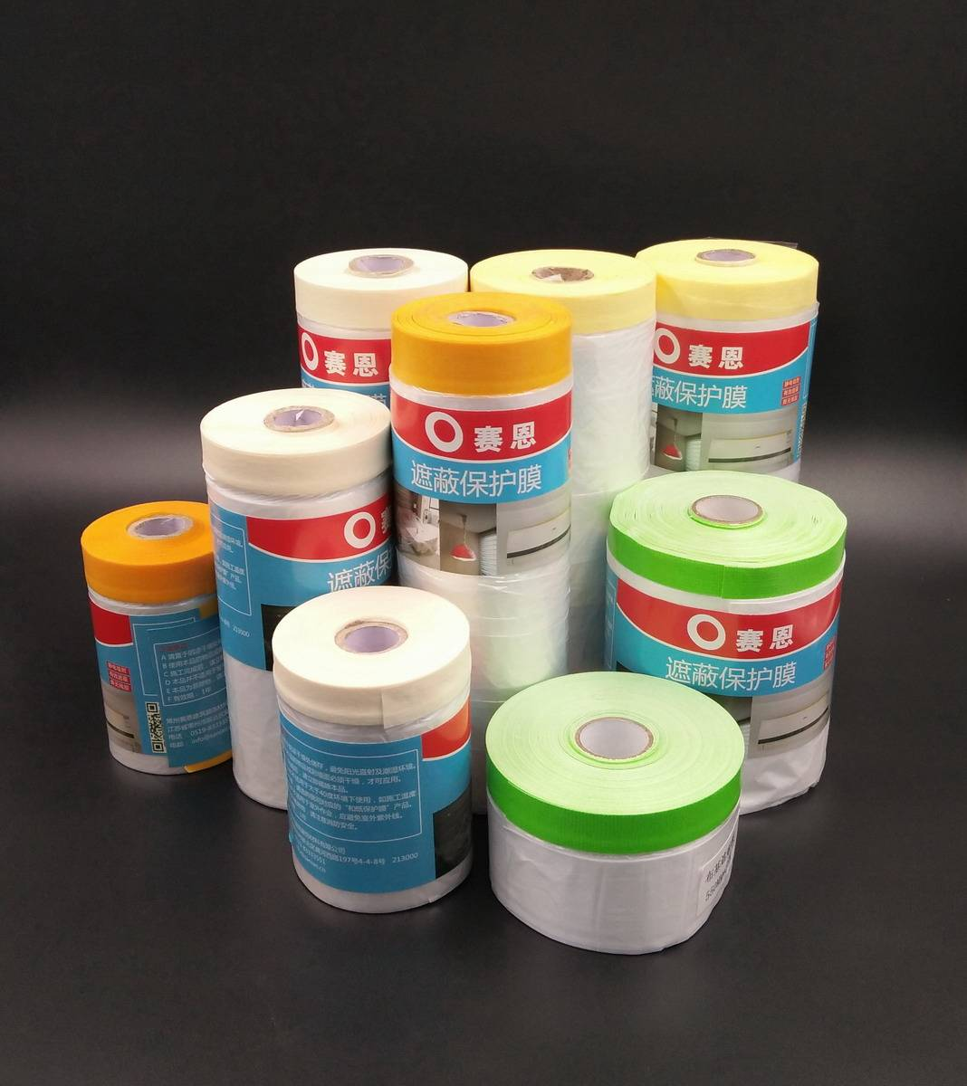 house painting masking film with tape