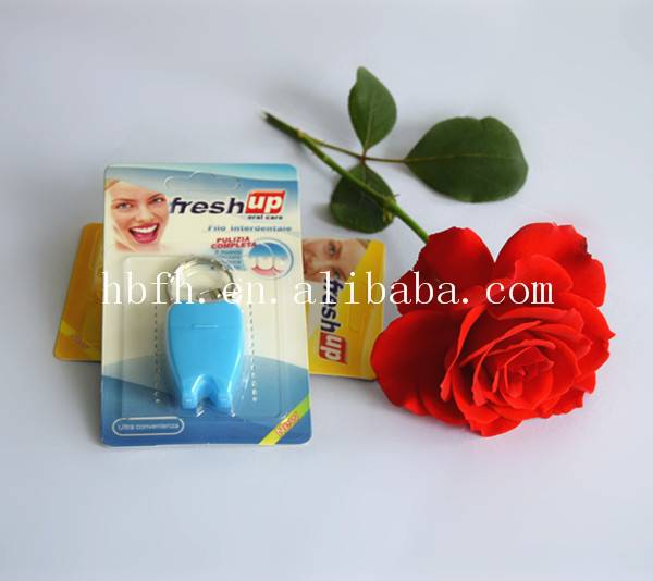 high quality tooth shape waxed mint dental floss