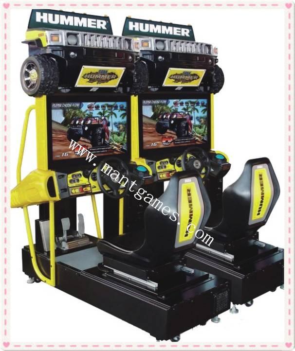 Popular amusement hummer racing machine