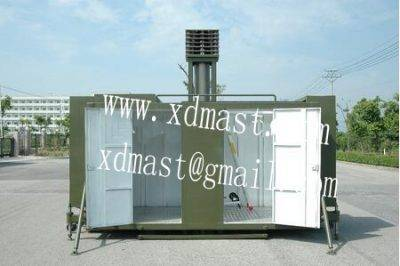 super heavy-duty telescopic antenna mast tower for mobile communications