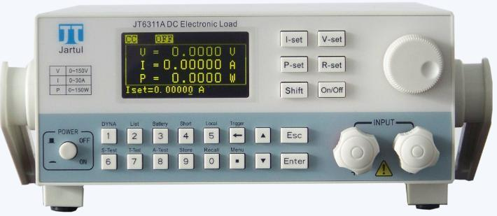 JT6411 high-performance Programmable DC Electronic Load,150W/15A/150V.