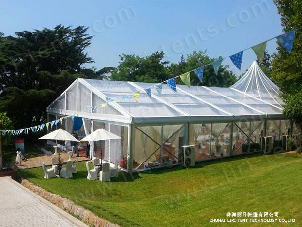 500 People Clear Wedding Tent with Clear Top and Sidewalls