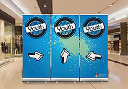 Double Sides Print Banner Media for Pop Up Roll Up
