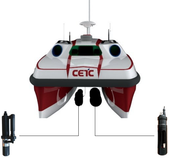 Water quality sampling monitoring unmanned surface vessel USV