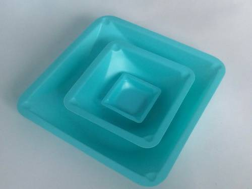 Square Weighing Dishes (Blue)