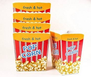 "5'' and 7"" pop corn melamine box"
