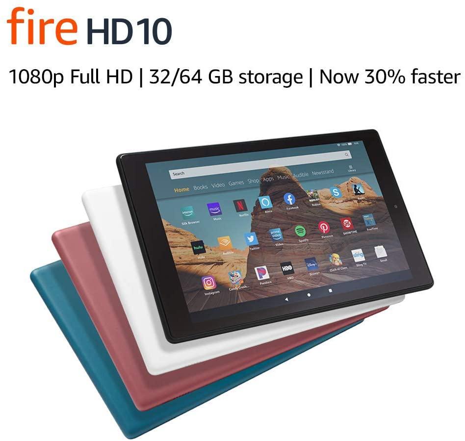 """Fire HD 10 Tablet (10.1"""" 1080p full HD display, 32 GB) - Black"""