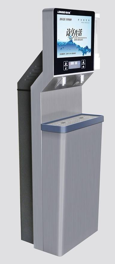 Public Stainless Steel P.O.U Hot & Cold Water Fountain With TV/LCD Monitor( GS430ROA)