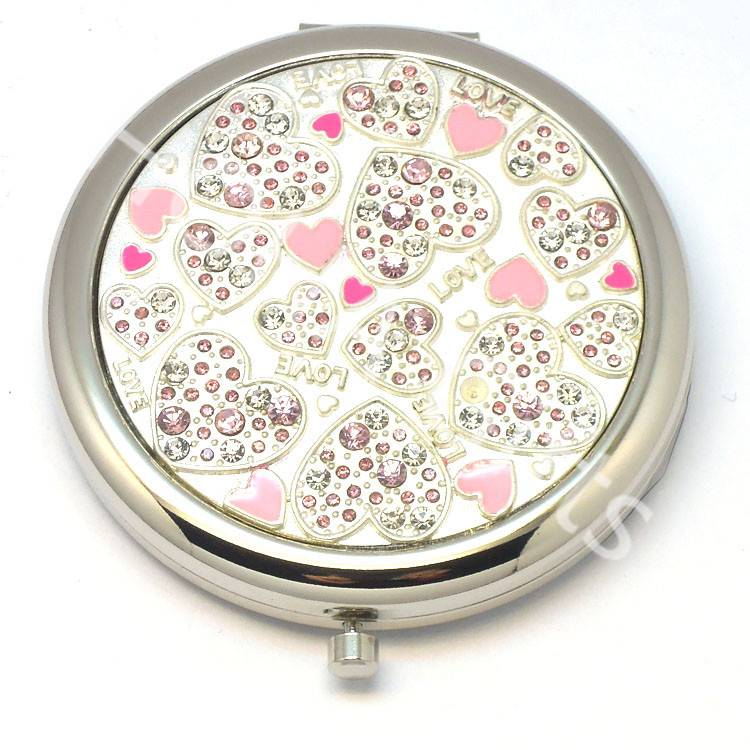 crystals makeup mirror