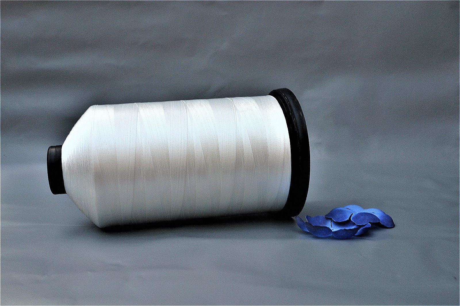 Mattress edge polyester sewing thread