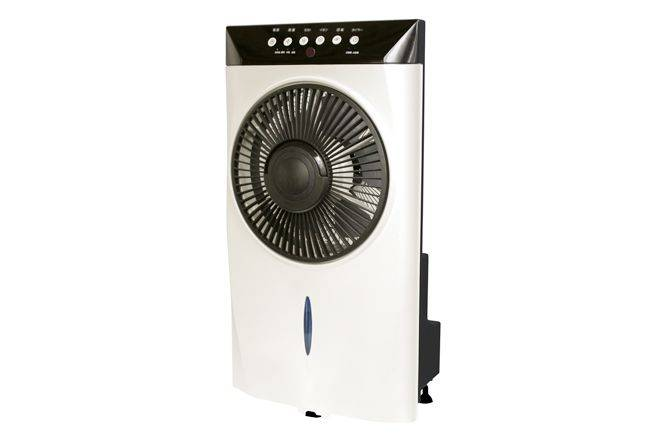 Hot! Box misting fan with remote control, 9h timer, photocatalyst function and FND display