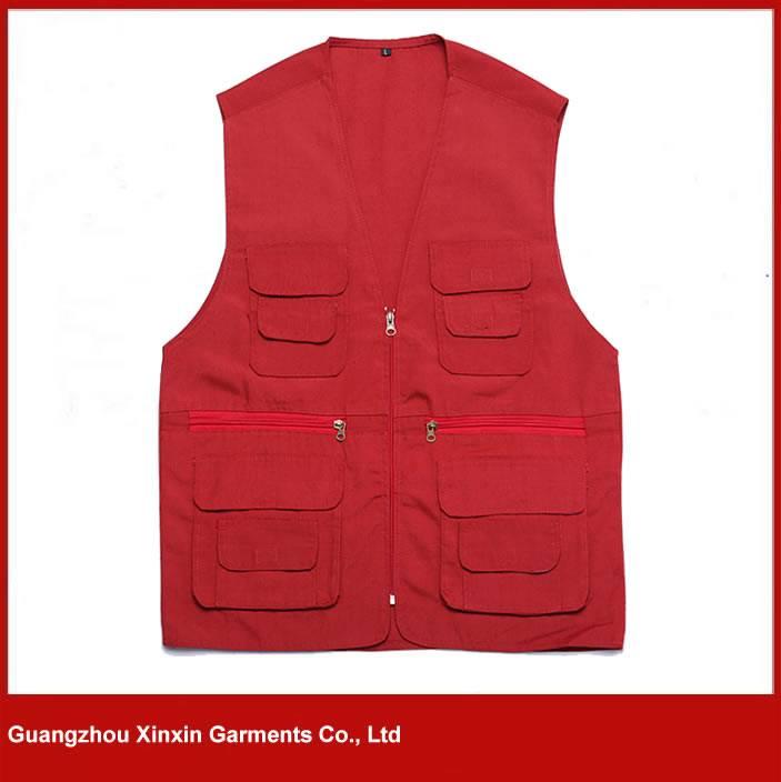 2016 Red color man Sleeveless cheap safety vest, work vest