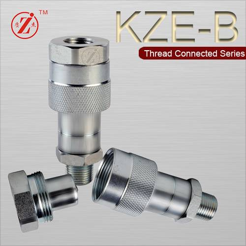 Steel thread locked hydraulic quick coupling