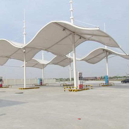 China giant tensile car parking shades