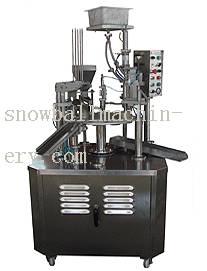 Rotary ice cream filling machine