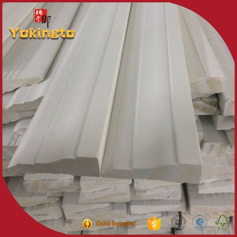 Decorative Primed baseboard pine door  Border Moulding