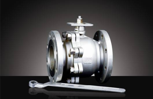 2-pc flanged SS ball valve