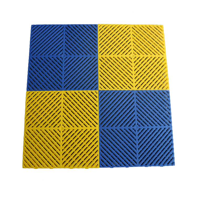 Factory direct free sample multi-color optional drainage dice plastic grille mosaic floor
