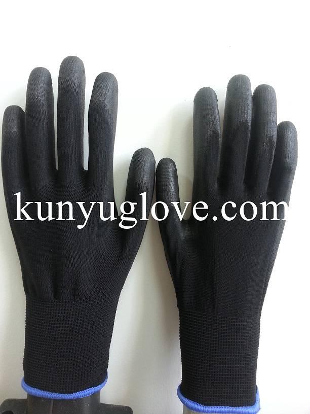 13 Guage SAFETY 13ga nylon liner pu coated gloves en388/ESD glove/working glove