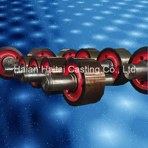 Sand casting carbon steel rotary kiln support roller