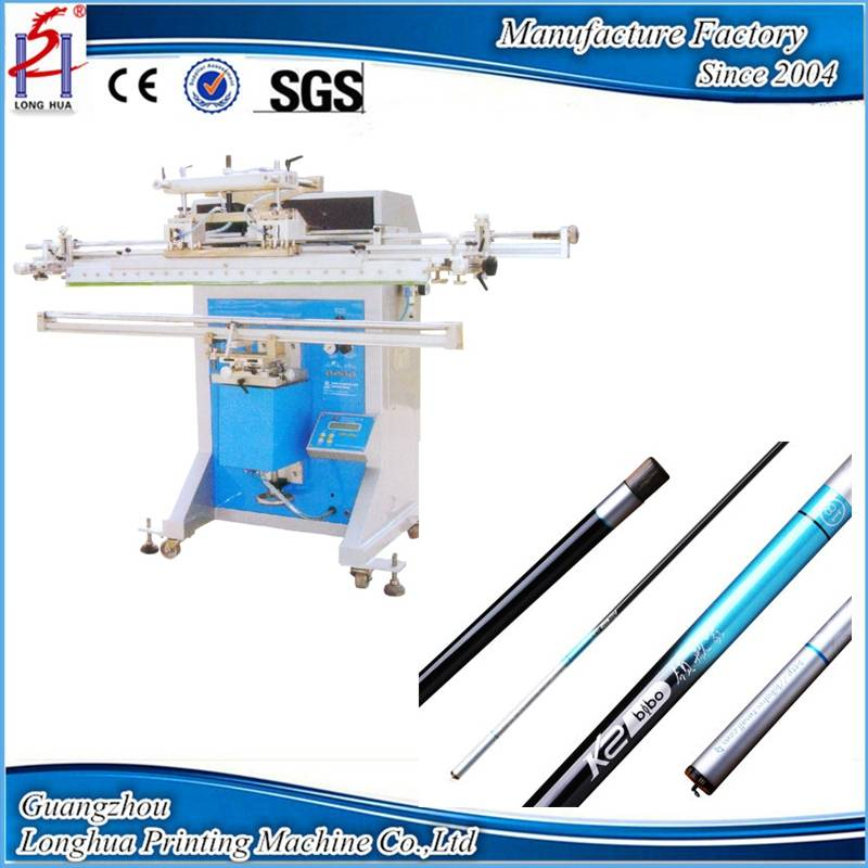 Poles pipes sticks and fishing rods Screen printing machine