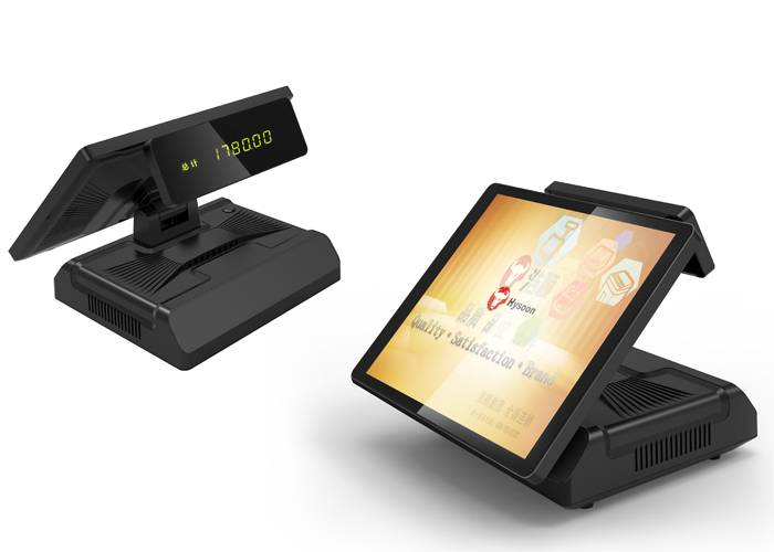 "15"" Touch Screen Pos System HM70 With Dual - Core Double Thread Processor"