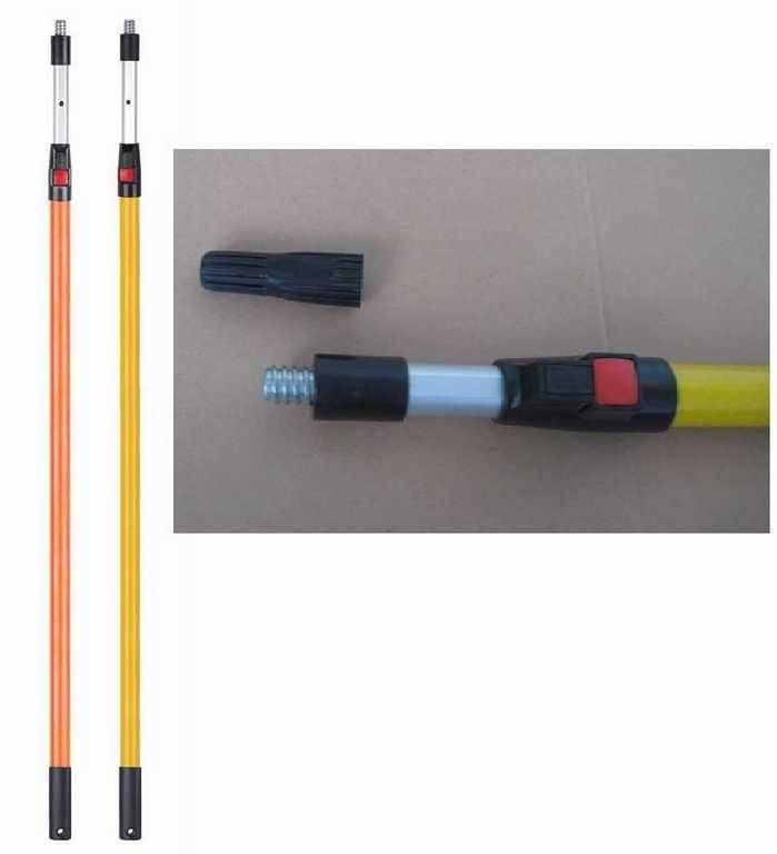 4.8m long fiberglass/aluminum paint roller telescopic extension handle pole