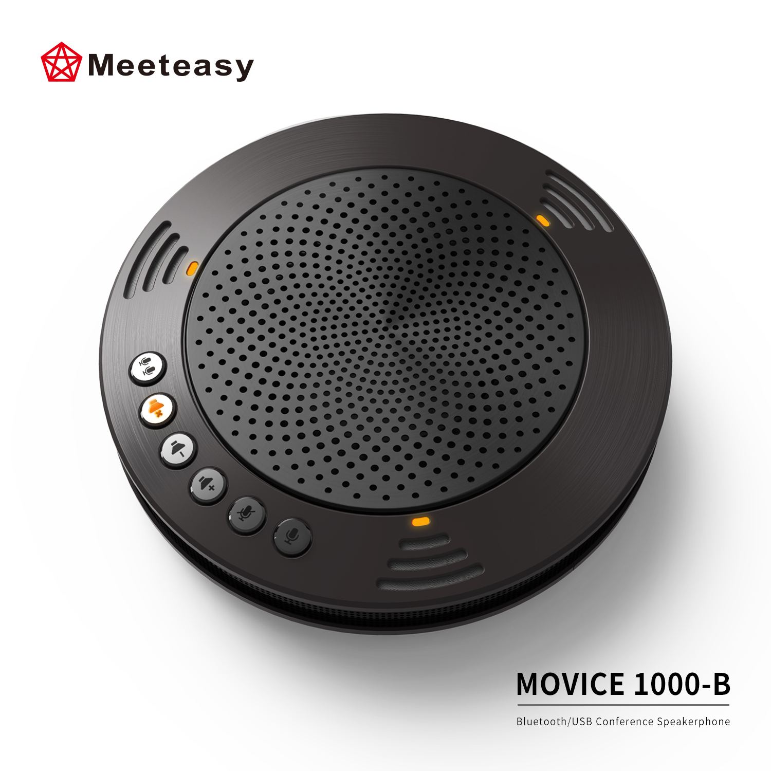Meeteasy MVOICE 1000-B Portable Wireless BT Speakerphone Conference Speaker for Web-conferencing