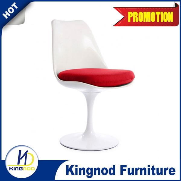 Plastic ABS Base Eero Saarinen Upholstered Soft Sponge Cushion Club Tulip Side Chair C-508