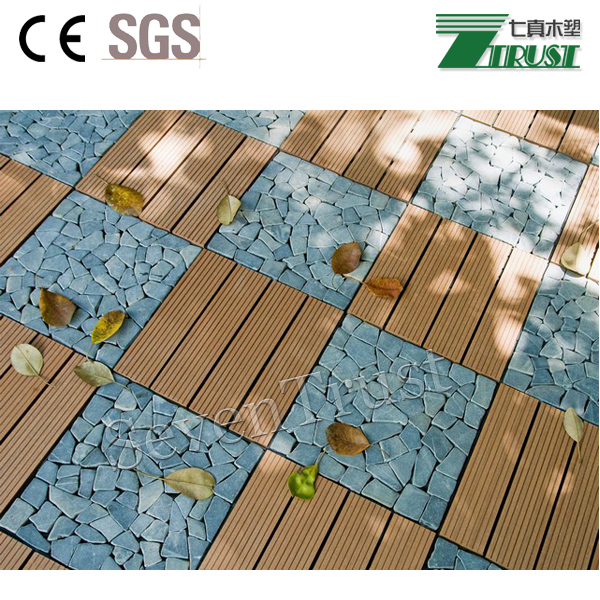 2017 hot sale outdoor interlocking WPC DIY decking