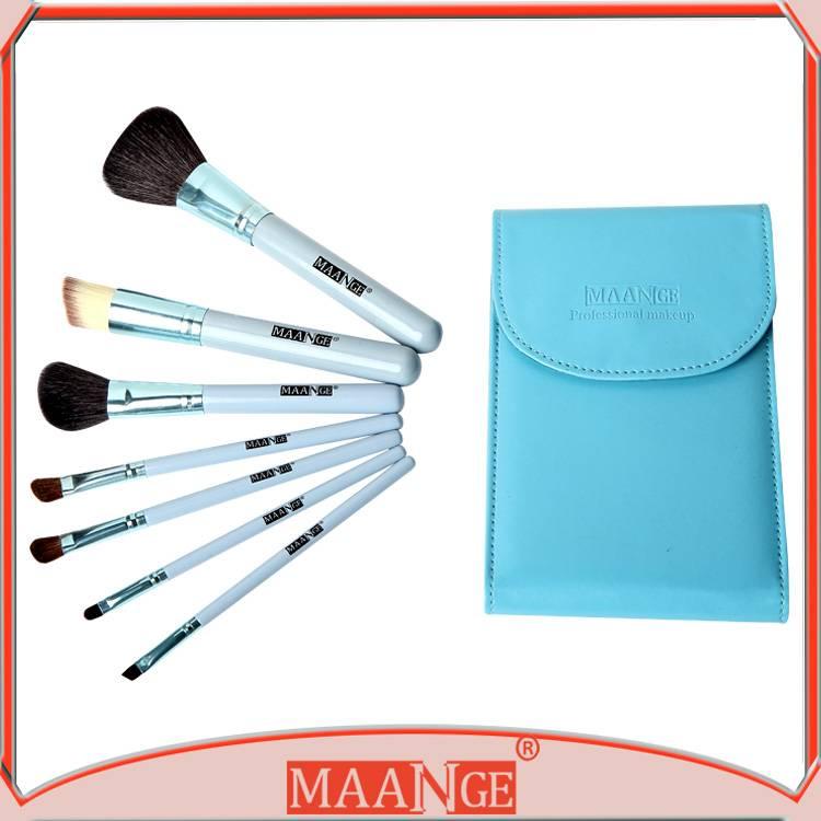 MAANGE Travel Size Makeup Brush Set 7pcs Travel Cosmetic Make up Brush set