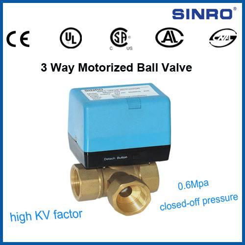 3 way motorized ball valves